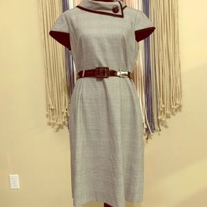 Tahari houndstooth dress